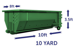 10 yard green1 1 Cheap Dumpster Rental Brooklyn, NY