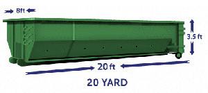 20 yard green 2 Cheap Dumpster Rental Brooklyn, NY