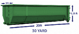 30 yard green 2 Cheap Dumpster Rental Brooklyn, NY